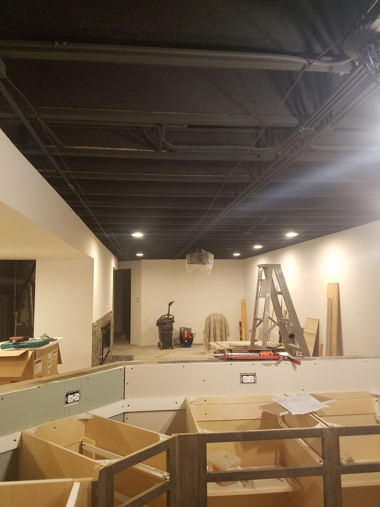 Basement Ceiling Painted Black After Drywall Basement Ceiling Ideas Cheap Ceiling Tiles Basement