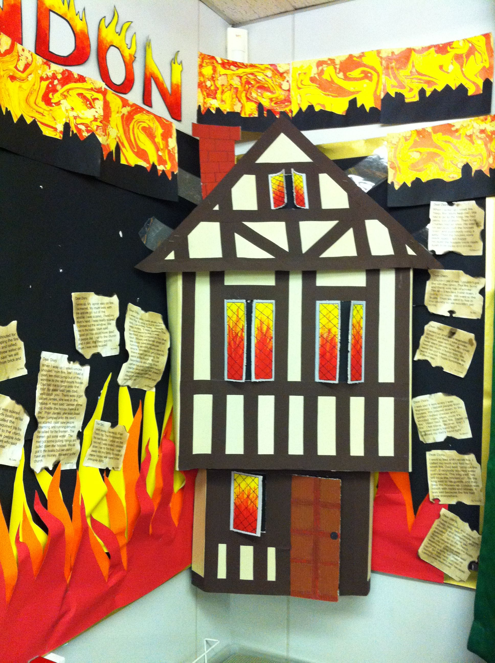The Great Fire Of London Tudor House Kids Schoolwork
