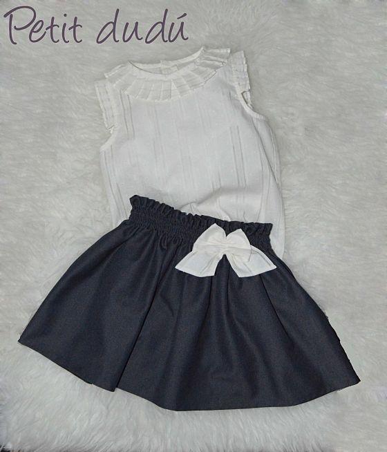 f2a242a54 PetitDudu, ropa, sacos y complementos de bebé: FALDA Y BLUSA PARA ...