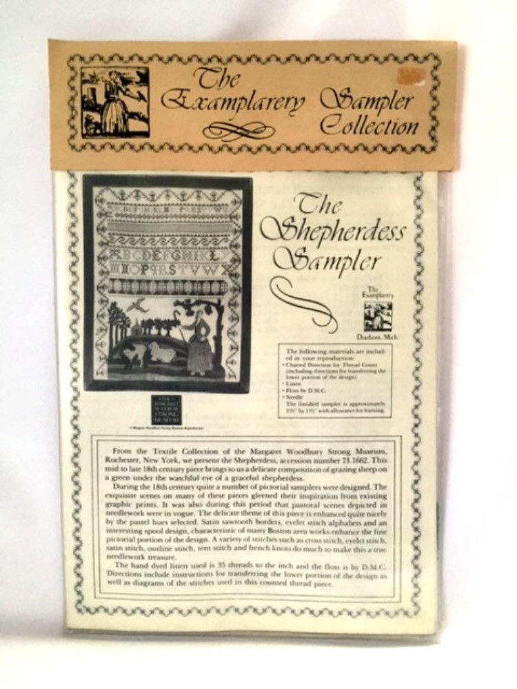 Examplarery Shepherdess Sampler Cross Stitch Kit Alphabet