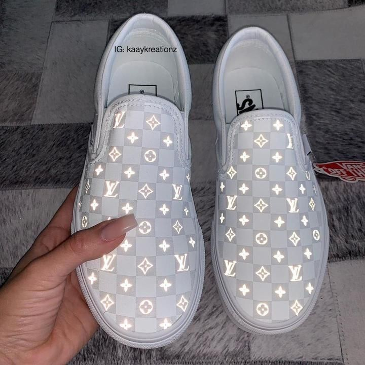 Source by abbyaaron21 #Custom #cute shoes #Reflective #vans #White