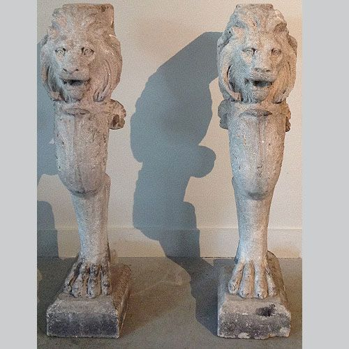 Antique Cast Stone Lion Console Table Legs. These Are Perfect For Indoor Or  Outdoor Use