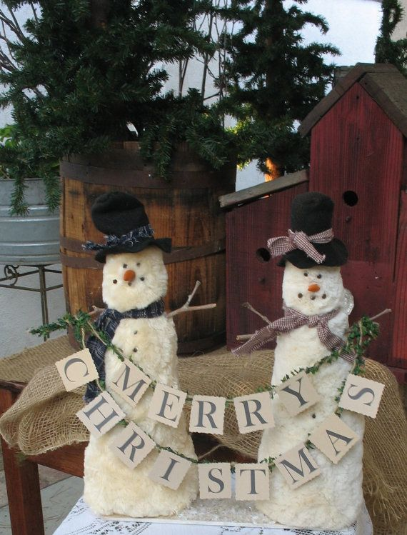 Christmas Decoration Country Snowmen
