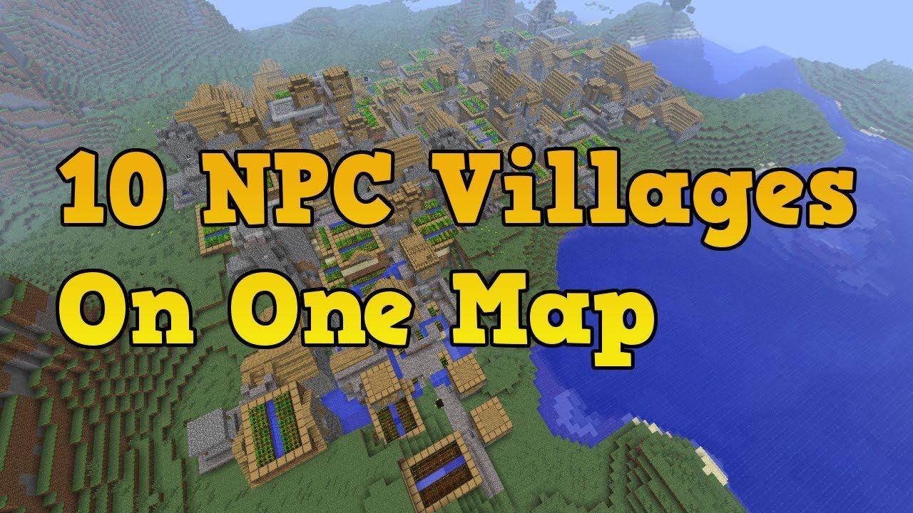 Minecraft Xbox 9 Seeds - 9 NPC Villages (9 Black Smith Chests