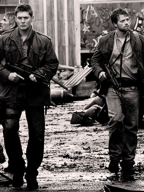 Supernatural | Dean Winchester and Castiel, Jensen Ackles & Misha Collins.