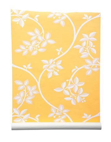 How cheerful and happy I would feel walking into a room with this wallpaper on the wall!