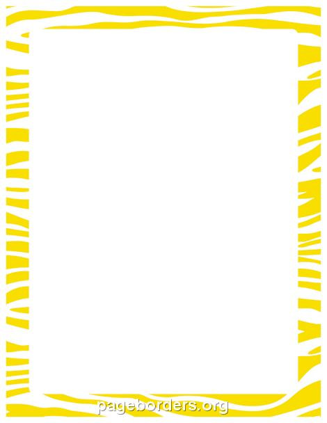 printable yellow zebra print border use the border in microsoft