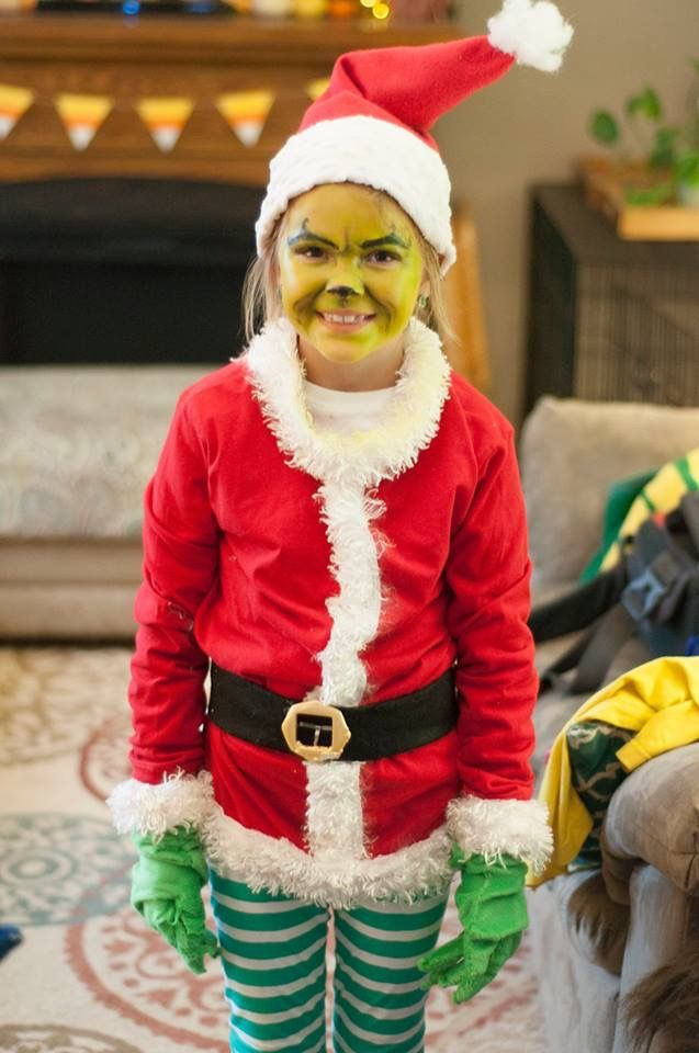 Emna joy grinch outfit I made for her