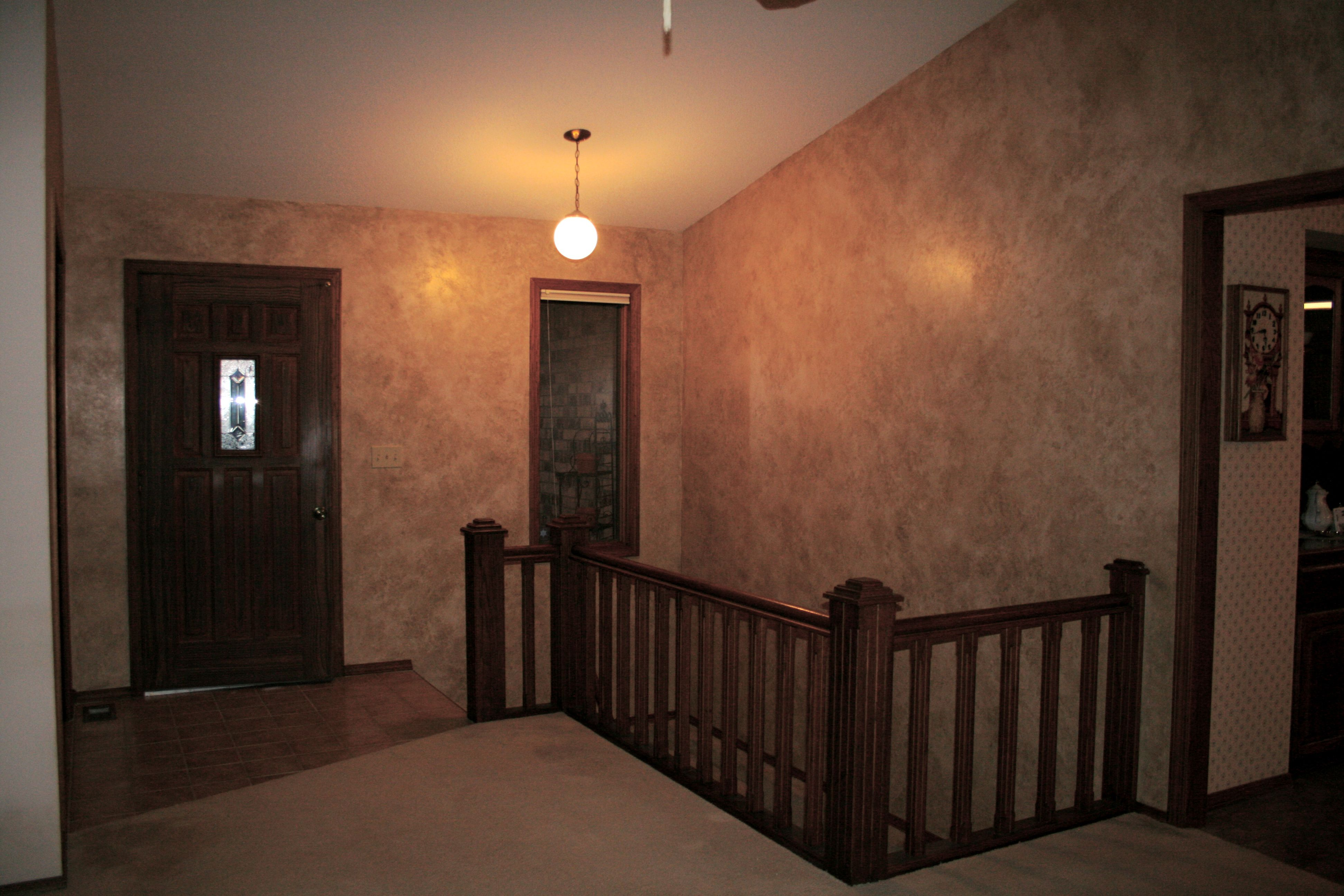 Faux Finish, Subtraction Method Using Mop Roller To Apply And Textured Rag  To Remove Glaze · Interior PaintingAccent ...