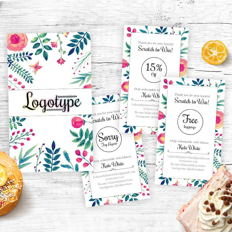 Floral Lula Scratch Off Cards for fashion retailers.