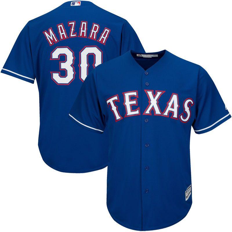 Nomar Mazara Texas Rangers Majestic Official Cool Base Player Jersey Royal Texas Rangers Team Jersey Odor Texas Rangers
