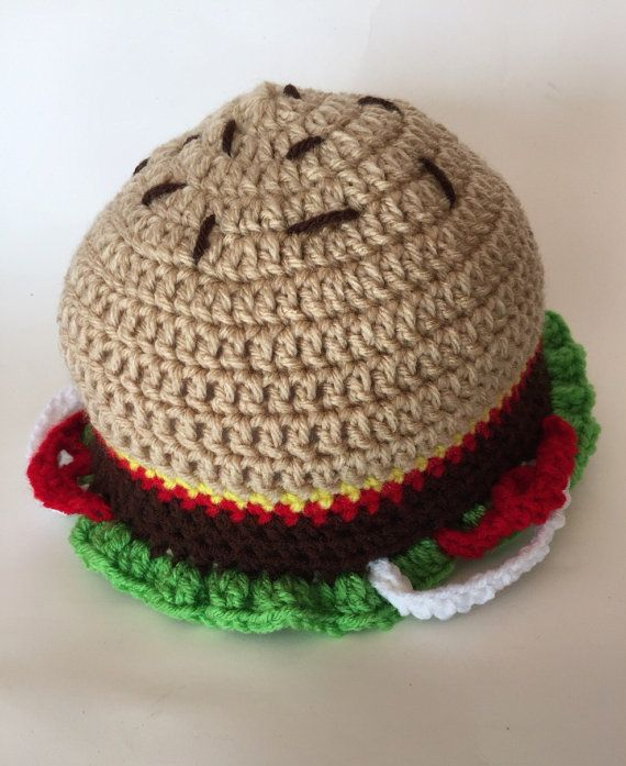 9b9d2c6b99304 Crochet Burger Beanie