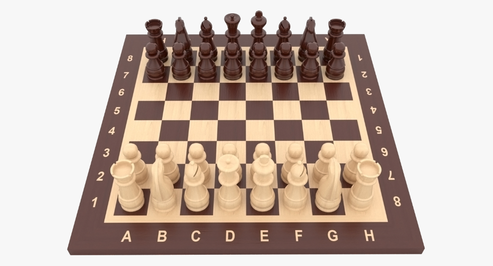 3d Model Chess Pieces Turbosquid 1193113 Chess Pieces Game Engine Chess Board