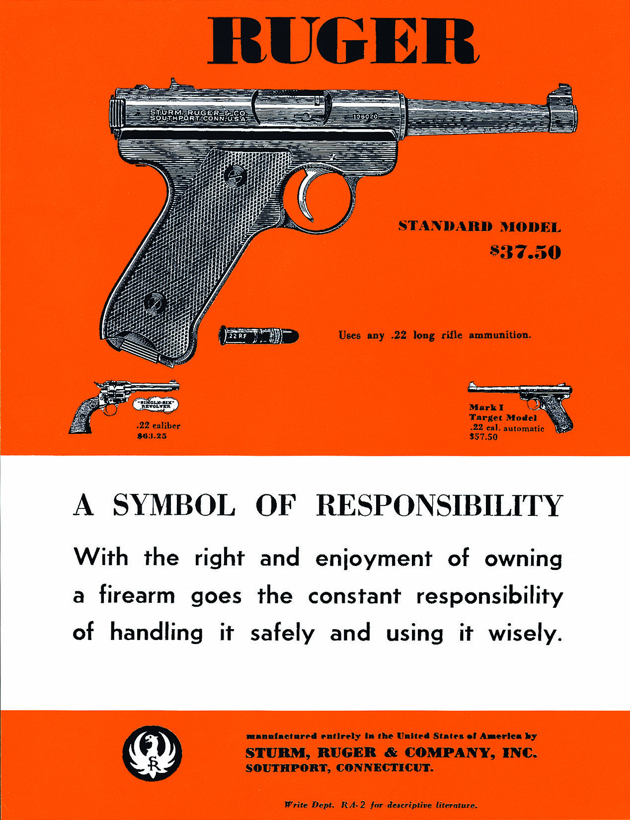 Ruger standard pistol a symbol of responsibility vintage ruger standard pistol a symbol of responsibility biocorpaavc
