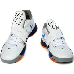 dc415c7e92cc Kevin Durant Shoes Nike Zoom KD 4 IV White Black Blue