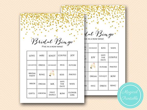 bridal bingo game 50 bridal bingo cards bridal bingo printable gold confetti bridal shower bachel