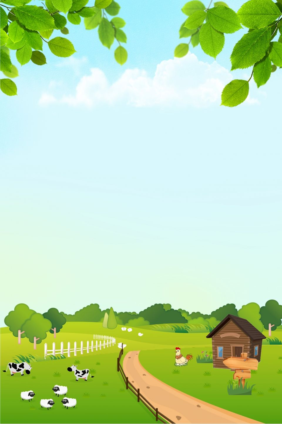 Natural Green Ecological Farm Background Images Background Clipart Background Images Wallpapers