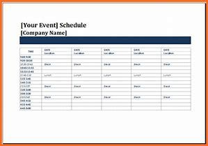 special event timeline template