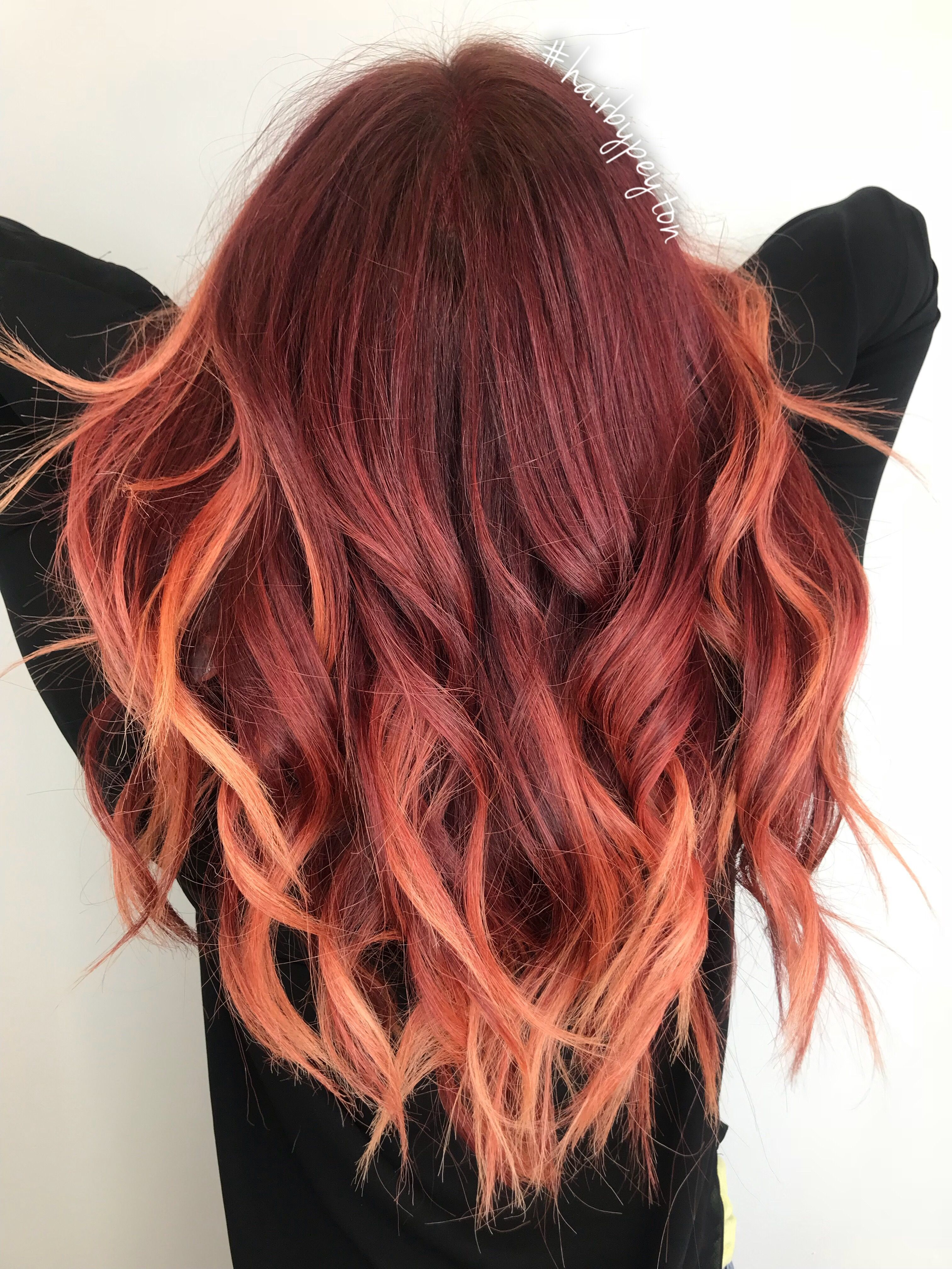 Sunburst Red To Copper Hair Balayage Red Balayage Hair Balayage Hair Balayage