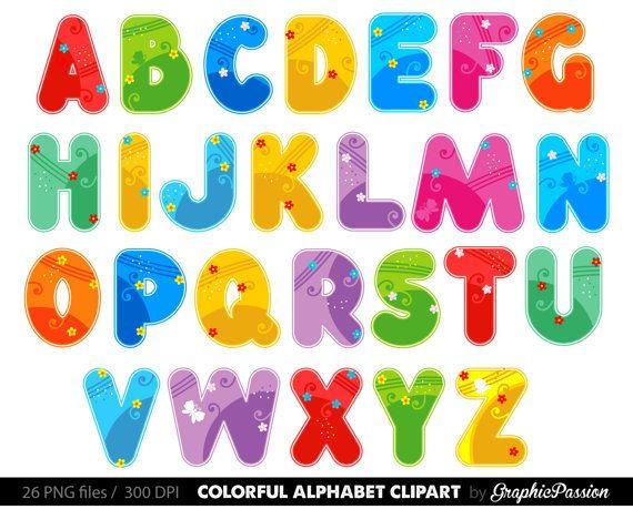 alphabet clipart color alphabet digital alphabet letters color clipart digital letters clip art alph