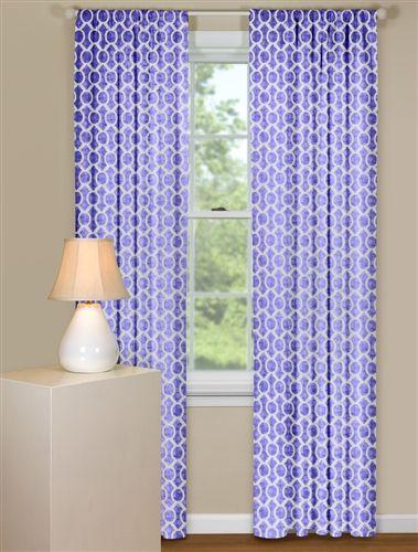 Retro Curtain Panels In Purple Retro Curtains Curtains Curtain