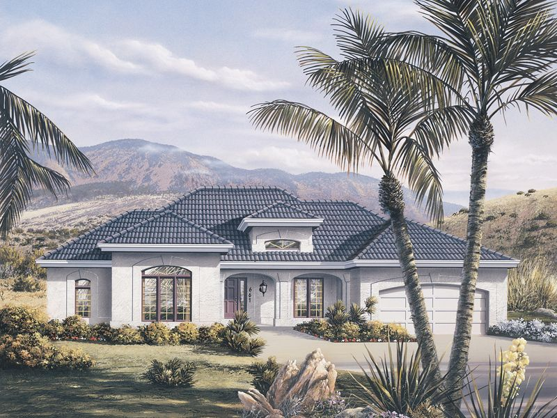 La Valencia Florida Style Home Florida House Plans Mediterranean Style House Plans Mediterranean House Plans