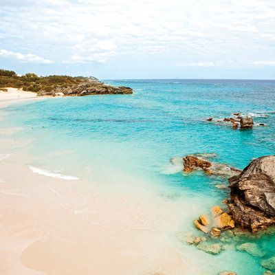 Horseshoe Bay, Bermuda: It's no surprise this blushing beach on the southern coast of Bermuda is one of its most popular. (A mix of crushed shells, coral, and calcium carbonate create the sand's delicate pink color.)