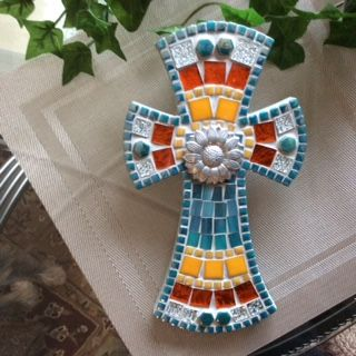 #131 - Mosaic Wooden Heart By Elaine's Mosaic Designs