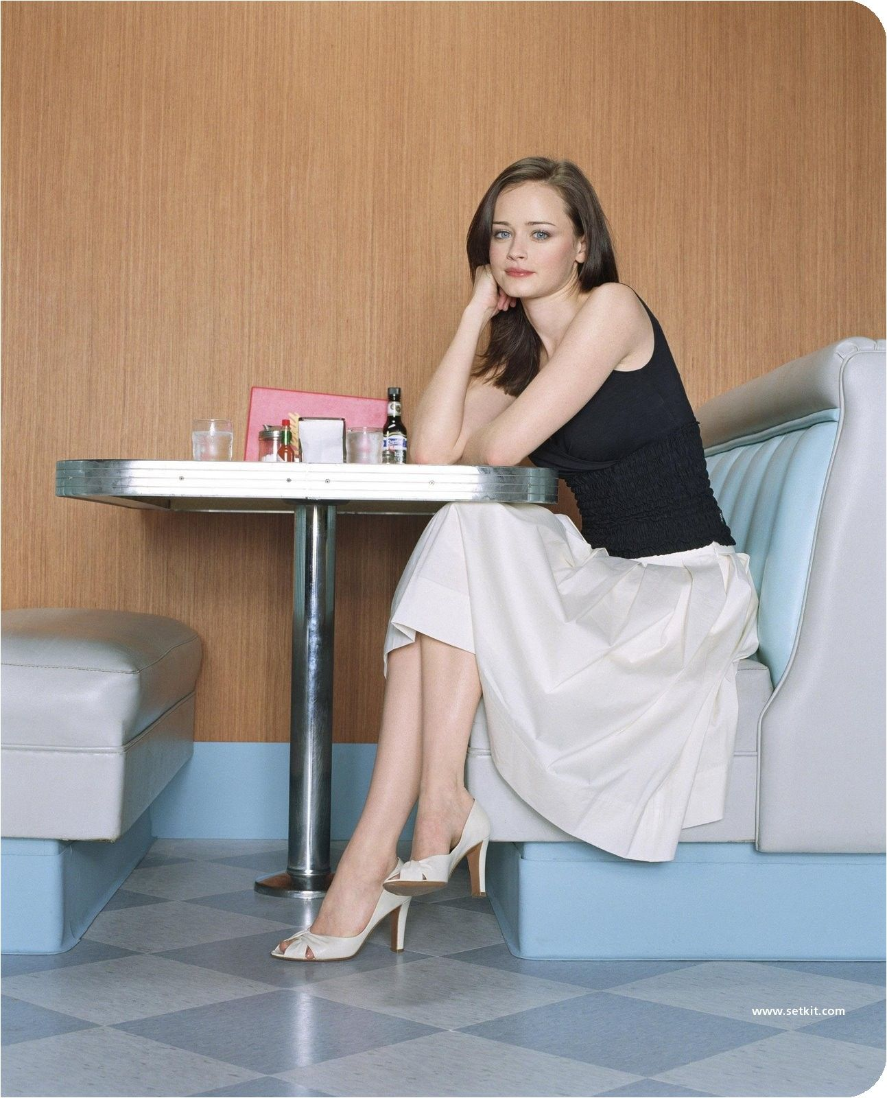 Keiko Agena Nude Ideal alexis bledel. black top with a white skirt and white heels. so