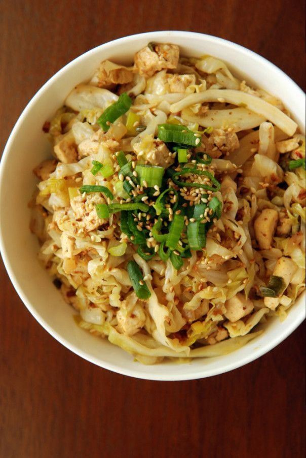 Chinese Sweet and Sour Cabbage With Tofu