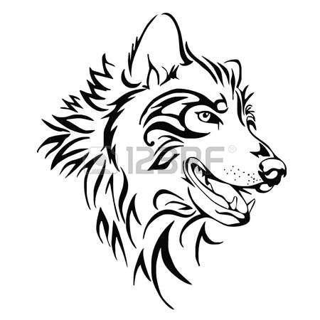 Tatouage vecteur t te de tatouage loup atrapes reves tatouage loup tatouage gravure et - Dessin de coyote ...