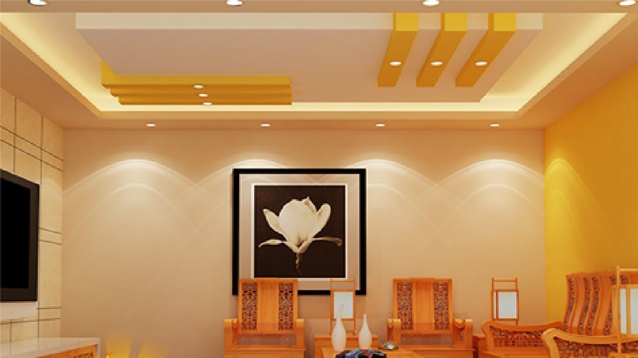 Low Cost Simple Fall Ceiling Design For Hall