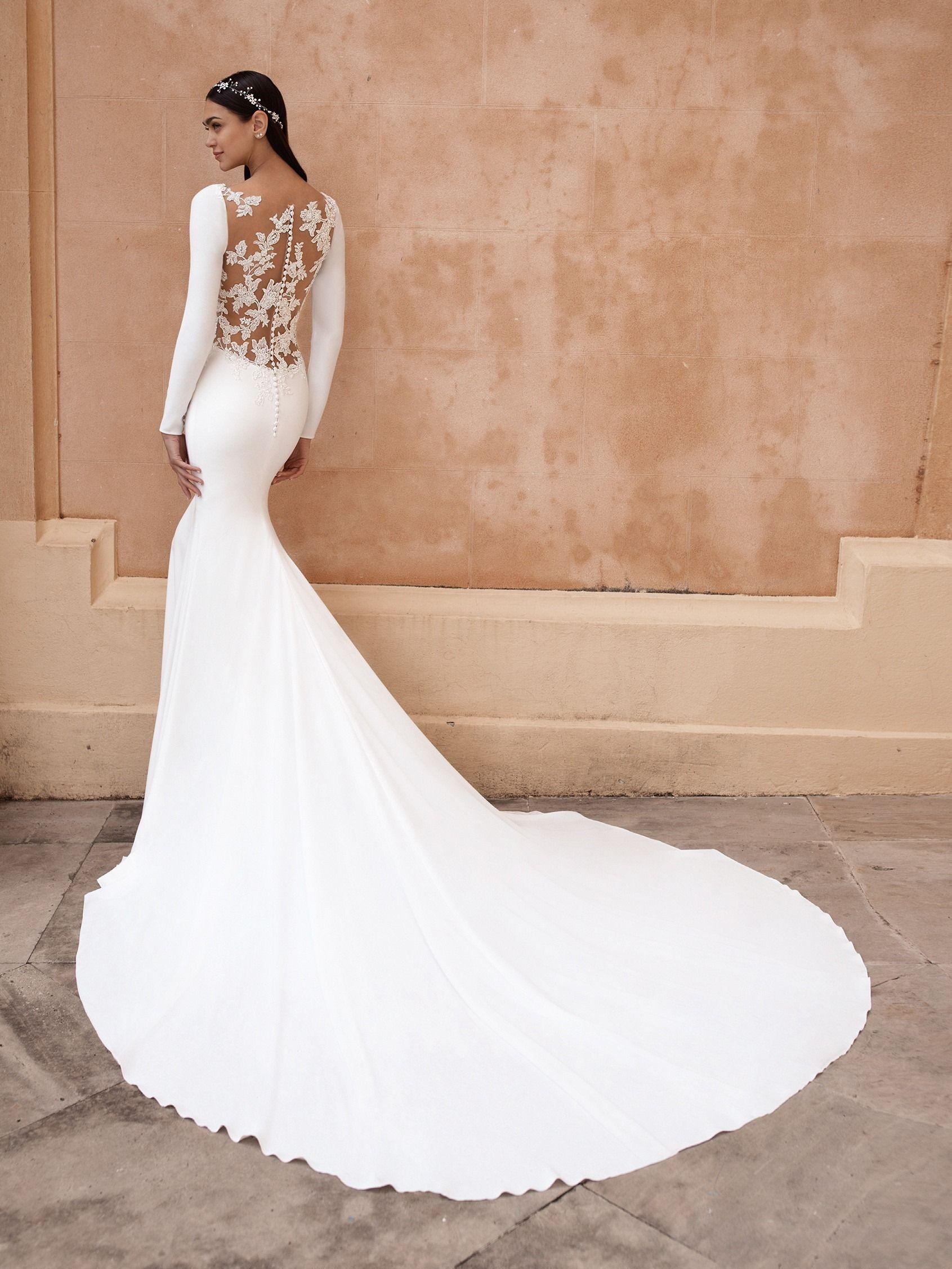 Pronovias 2020 Wedding Dress Sizes Wedding Dress Long Sleeve Pronovias Bridal