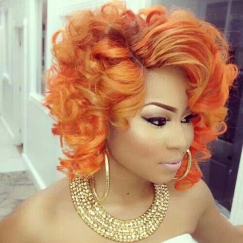 orange hair style 14 fabulous orange hairstyles wig hair coloring and 4773