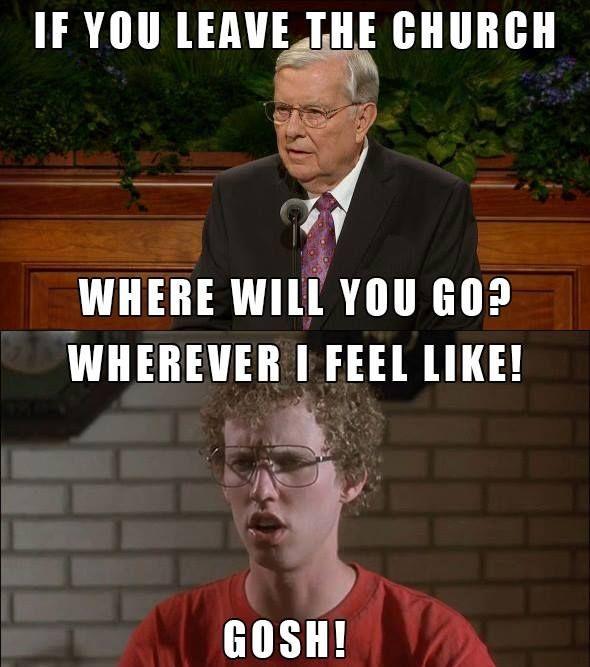 Now For A Timely Pop Culture Reference Gosh Mormon Memes Ex Mormon Lds Memes