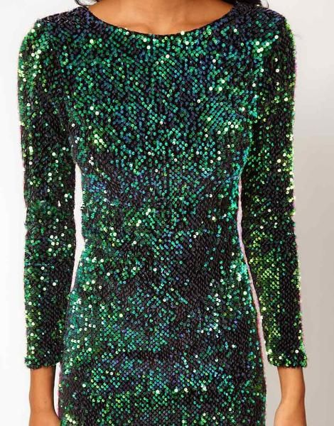 857074ee7c7 Sexy Sequins Bodycon Party Dress. Dinner Cocktail Holiday Dress. Find the top  10 dresses of the season. Green Long Sleeve Sparkles Sequined Glitzy Bodycon  ...
