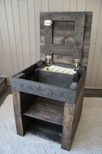 wooden pallet bedside table with new ideas image hidden