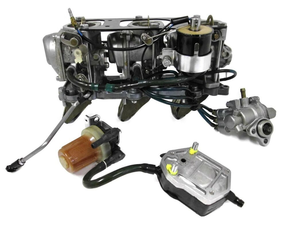 Yamaha Outboard Carburetors And Intake Reed Assembly 6h4 1430 40hp 3 Cyl Tested Outboard Yamaha Marine Cylinder