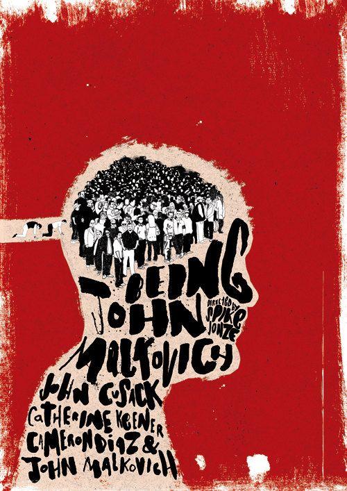 Als John Malkovich Film-Poster-niederländischen KIPPT-Ausstellung