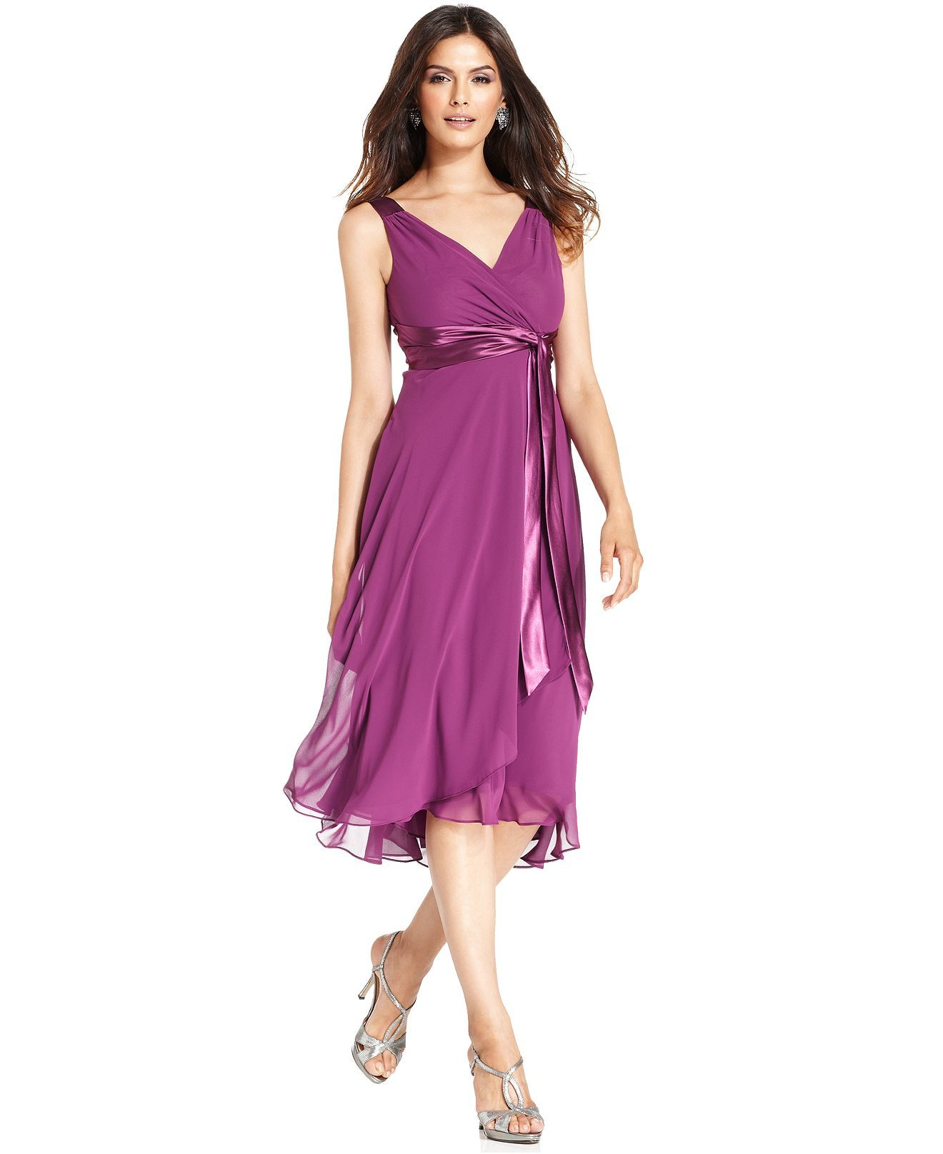 Evan picone dress sleeveless satin tie bridesmaid dresses evan picone dress sleeveless satin tie bridesmaid dresses women macys paradise purple ombrellifo Images