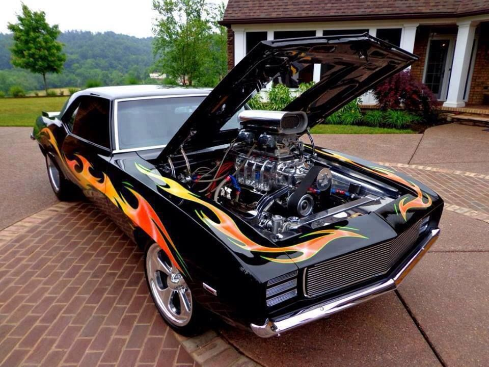 Camaro With Blower Cars Pinterest Custom Muscle Cars And Cars