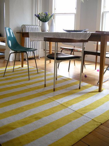 Home Of Elsiemarley On Flickr Striped Rug Yellow Dining Room Stripes
