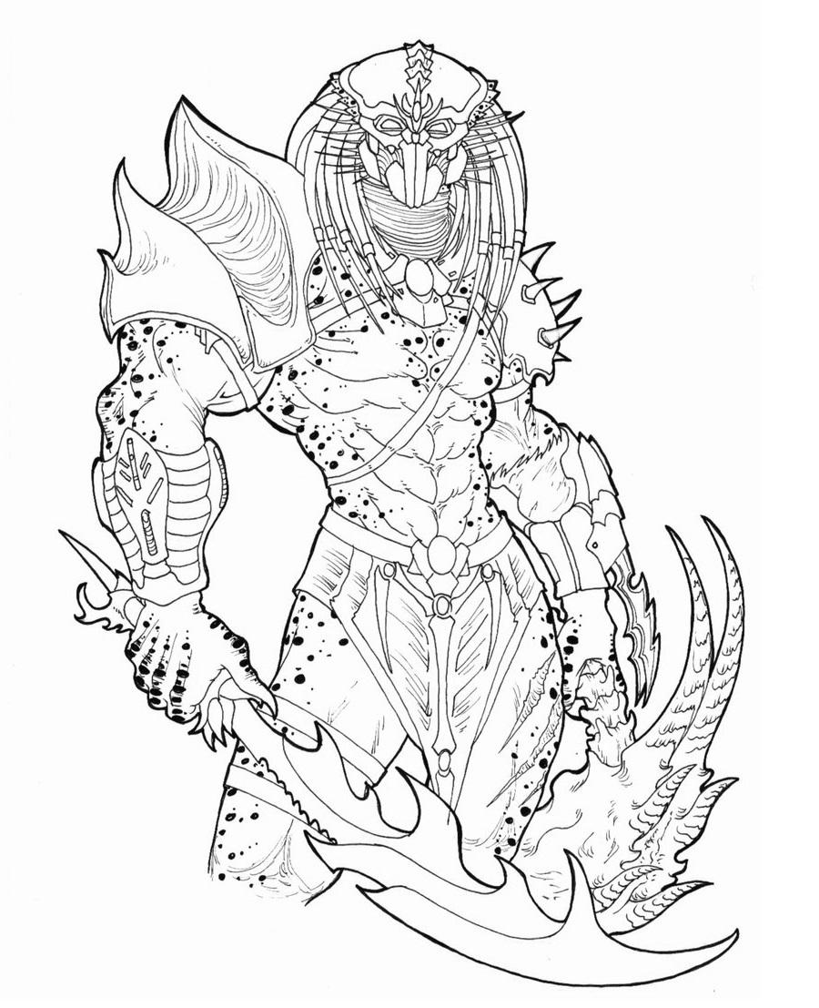 Predator Coloring Pages Coloring Pages Predator Art Predator
