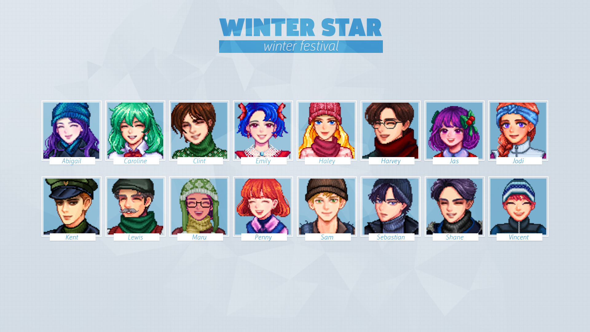 Baechu S Portraits For Seasonal Villager Outfits At Stardew Valley Nexus Mods And Community Stardew Valley Custom Portraits Portrait