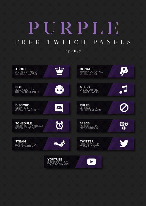 Free panels for Twitch  | panel | Sanat ve Tasarım