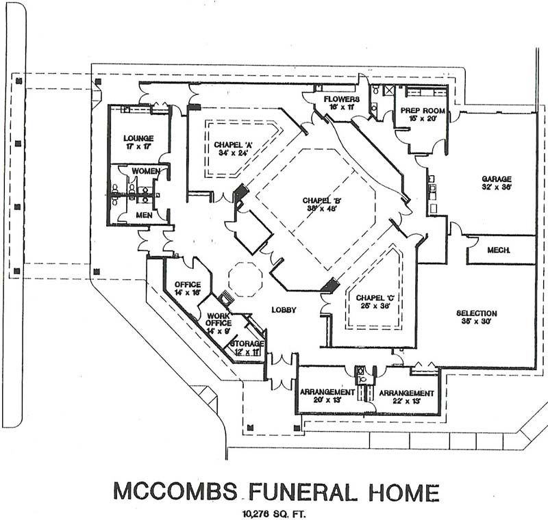 Image Result For Funeral Home Building Floor Plan Written Word