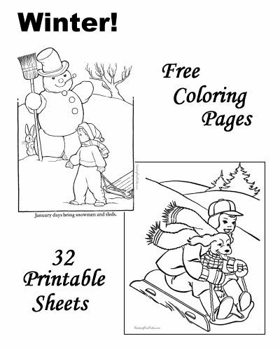 Winter Coloring Pages Coloring Pages Coloring Book Pages Free Coloring Pages