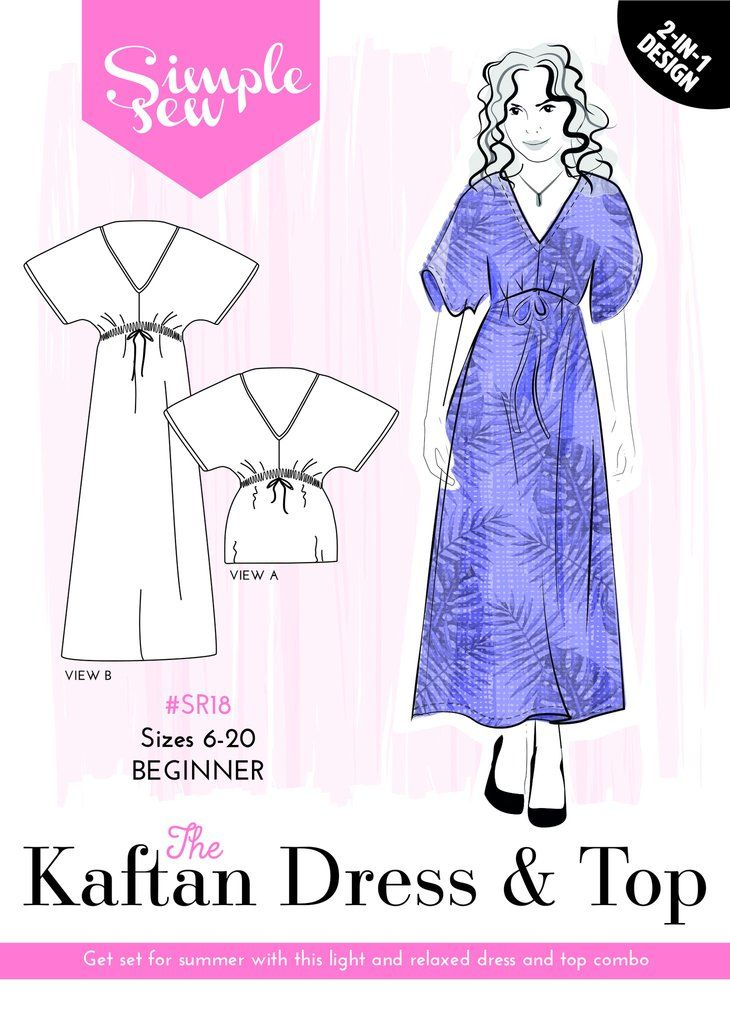 The Simple Sew Kaftan Dress And Top Simple Sew Pattern Collection