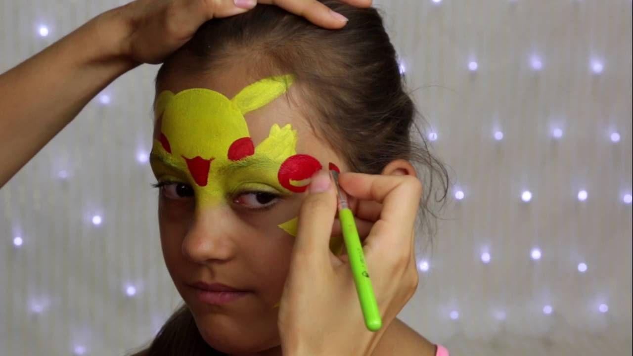 Pokemon Pikachu Makeup For Kids Face Painting Tutorial Face