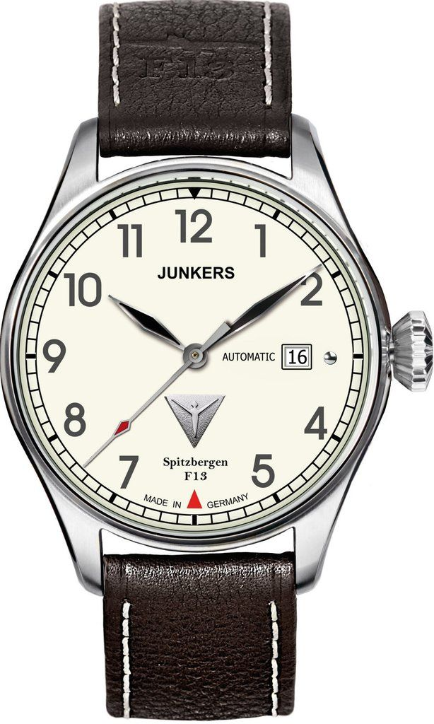 Junkers Watch Spitzbergen F13 #2015-2016-sale #bezel-fixed #black-friday-special #bracelet-strap-leather #brand-junkers #case-material-steel #case-width-40mm #classic #date-yes #delivery-timescale-1-2-weeks #dial-colour-cream #gender-mens #movement-automatic #official-stockist-for-junkers-watches #packaging-junkers-watch-packaging #sale-item-yes #style-dress #subcat-spitzbergen-f13 #supplier-model-no-6164-5 #vip-exclusive #warranty-junkers-official-2-year-guarantee #water-resistant-50m